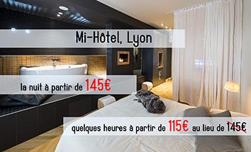 Une chambre d\'hôtel à Lyon | Hôtel et chambre avec jacuzzi